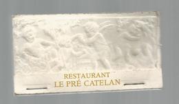G-I-E, Tabac, Boites, Pochette D'ALLUMETTES,  Publicité  , 2 Scans , Restaurant LE PRE CATALAN , 9 X 5 , Gaufrée - Matchbox Labels