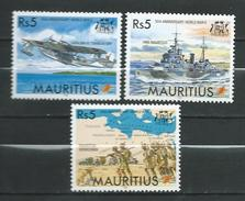 Mauritius 1995 The 50th Anniversary Of End Of Second World War.ships.maps.plane.MNH - Mauritius (1968-...)
