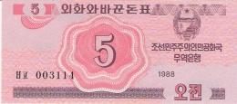 COREE Du NORD   5 Chon   1988   P. 32   UNC - Corée Du Nord