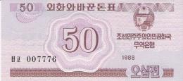 COREE Du NORD   50 Chon   1988   P. 34   UNC - Corée Du Nord