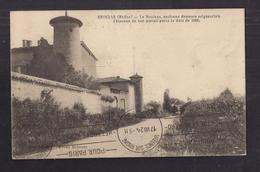 CPA 69 - BRINDAS - Le Bouleau , Ancienne Demeure Seigneuriale - TB PLAN MAISON Château - Jolie Oblitération Recto Verso - Frankreich