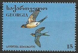 Georgia 1996 - MNH - Family SWALLOWS : Barn Swallow (Hirundo Rustica) - Zangvogels