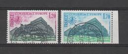 FRANCE / 1978 / Y&T SERVICE N° 58/59 : Conseil De L'Europe (Bâtiment 1F20 & 1F70) - Cachets Ronds CONSEIL De L'EUROPE - Officials