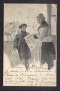 CPA ESPAGNE - TB ILLUSTRATION VENDEUR DE JOURNAUX  ILA LISTA GRANDE ! TB Oblitération 1901 Verso - Spanje