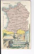 CPAS Frankreich France  Carte Géographique Illustrée Amidon Remy 1919 France - Otros