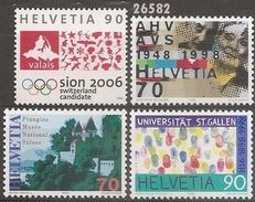 1998 - YT 1567 - 1574 à 1576 ** - VC: 5.50 Eur. - Suisse