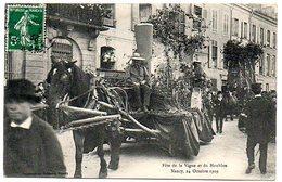 54 - Meurthe Et Moselle / NANCY -  Fête De La Vigne Et Du Houblon, 24 Octobre 1909  (thème Bière, Brasserie, Malterie). - Nancy