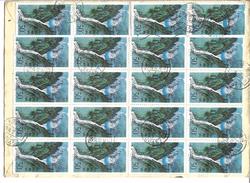 China Registered Airmail 1996 Railways 100 分, 50 分1994 Xiling Gorge Full Sheet 50 - Treni