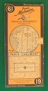 Ancienne Carte Michelin France - Numéro 61 - Paris / Chaumont - Cartes Routières