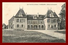 Théme Chateau  * Saint Grégoire  * Le Chateau De Bourgneuf  ( Scan Recto Et Verso ) - Rennes