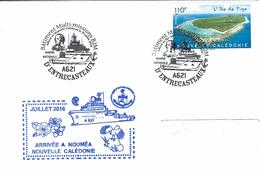 12639  B2M D'ENTRECASTEAUX - Arrivée NOUMÉA NOUVELLE CALÉDONIE Le 29/7/2016 - Marcofilia (sobres)