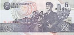 COREE Du NORD   5 Won   1998   P. 40a   UNC - Corée Du Nord