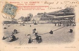 """76-FECAMP- LA PLAGE DU CASINO, HOMARDS, """" LA COMETE """" CONSERVES DES GOURMETS, - Fécamp"""