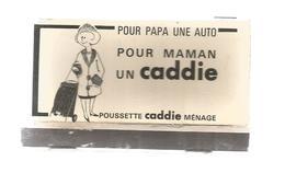 G-I-E, Tabac, Boites , Pochette D'ALLUMETTES,  Publicité, 2 Scans, Poussette CADDIE Ménage, Ateliers Réunis - Matchbox Labels