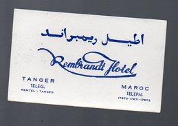 (Tanger Maroc) Carte Commerciale REMBRANDT HOTEL (PPP4529) - Publicidad