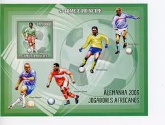 Sao Tome-2006-Eto'o,Makelele,Kanu,Vieira,Yakubu-Coupe Du Monde De Football-Bloc***MNH