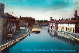 GAGGIANO (MI) - NAVIGLIO GRANDE - VIA ROMA E VIA GOZZADINI - F/G - V: 1961 - SB - Autres Villes