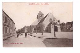 78 Limetz Place De L' Eglise Cpa Animée Carte Non Voyagée Edit Lavergne à Vernon - Other Municipalities