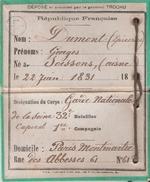CARTE GARDE NATIONALE PARIS MONTMARTRE GENERAL TROCHU GUERRE 1870 SIEGE PARIS ???? - Documents