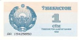OUZBEKISTAN   1 Sum   1992 (1993)   (# Serial Diff.)   P. 61a   UNC - Uzbekistán