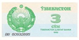 OUZBEKISTAN   3 Sum   1992 (1993)   P. 62a   AUNC - Ouzbékistan