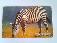 Tanzania Phonecard 17,000 Shillings Zebra Chip Card