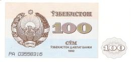 OUZBEKISTAN   100 SUM   1992 (1993)   P. 67a   UNC - Uzbekistan