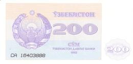 OUZBEKISTAN   200 SUM   1992 (1993)   P. 68a   UNC - Uzbekistan