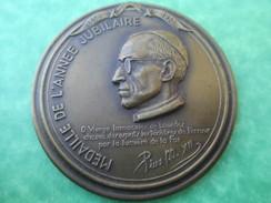 Médaille De Table Religieuse/Pie XII/Médaille De L'année Jubiliaire/Médaille Officielle Centenaire/LOURDES/1958   CAN261 - Religión & Esoterismo