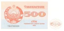 OUZBEKISTAN   500 Sum   1992 (1993)   P. 69b   UNC - Uzbekistan