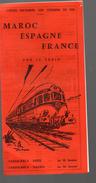 Maros Espagne France Par Ler Train Tarif Et Horaires 1966 (PPP4536) - World