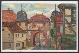 A2670 - Alte Ansichtskarte - Aquarell - P. Schmiegelow - Tann Röhn - Mandt - N. Gel - Sin Clasificación