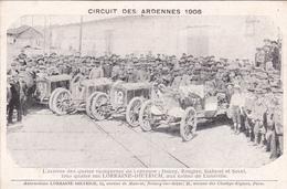 Circuit Des Ardennes 1906  - Automobile Lorraine-Dietrich - L'arrivée Des 4 Vainqueurs De L'épreuve - France - Voitures De Tourisme