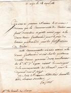 Avril 1788 - AIX (13) - Terrain Cédé Pour Les FORTIFICATIONS DE TOULON (83) - Historische Dokumente