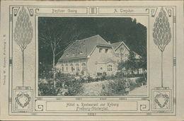 AK Freiburg-Günterstal, Hotel U. Restaurant Zur Kyburg, Jugendstil-Dekor, Um 1907 (7813) - Freiburg I. Br.