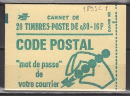 France Carnet N° 1893 - C 1 Neuf ** - Usage Courant