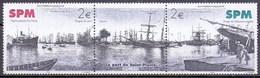 Saint Pierre And Miquelon (SPM) 2004 Poupe De Schooner Anglais, Ship, Boat (2v) MNH (M-419)