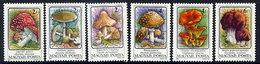 HUNGARY 1986 Poisonous Fungi  MNH /**.  Michel 3871-76 - Hungary