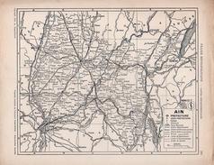 Plan Du Département De L´AIN - Mapas Geográficas