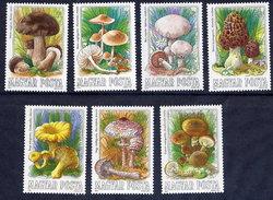 HUNGARY 1984 Edible Fungi  MNH /**.  Michel 3708-14 - Hungary