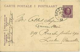 1922 Houyoux  15c Van Selzaete (Zelzate) Naar Laeken (Laken) - Ganzsachen