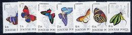 HUNGARY 1984 Butterflies  MNH /**.  Michel 3681-87 - Butterflies