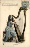 MUSIQUE - INSTRUMENTS DE MUSIQUE - HARPE - Série De 5 Cartes - Lakmé - Musica E Musicisti