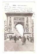 PRECURSEUR, Paris, Porte Saint Denis; Petit Métier Marchand Ambulant Colporteur Vitrier, Obl, MOUCHON 10c , 1903 - Petits Métiers à Paris