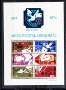 PORTUGAL 1974.AFINSA BLOCO Nº 15 .CENTENARIO U.P.U.NUEVOS SIN CHARNELA  SES523GRANDE - 1910-... República