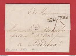 Lettre / De Londres / Pour Bordeaux  / 1753 - Great Britain