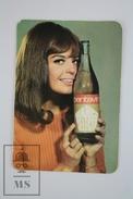 1967 Small/ Pocket Calendar - Young Model/ Lady - Spanish Wine Advertising Pentavin - Calendarios