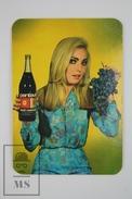 1967 Small/ Pocket Calendar - Young Blonde Model/ Lady - Spanish Wine Advertising Pentavin - Calendarios