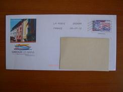 Enveloppe  PAP Thermalisme, Illustration Gréoux - Entiers Postaux