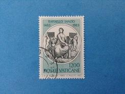 1983 VATICANO FRANCOBOLLO USATO STAMP USED - RAFFAELLO SANZIO 1200 Lire - - Vaticano (Ciudad Del)